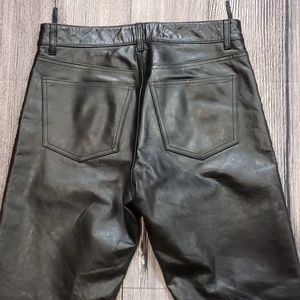 GAP Black Leather Boot Cut Pants 30x30